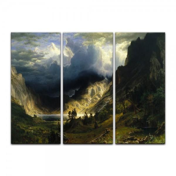 Leinwandbild - Albert Bierstadt - A Storm in the Rocky Mountains - Sturm in den Rocky Mountains, Mt.