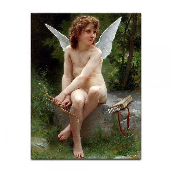 Leinwandbild - William-Adolphe Bouguereau - Love on the Look Out