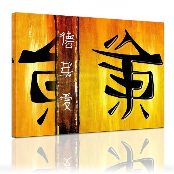 Leinwandbild - Chinesische Zeichen