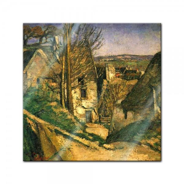 Glasbild Paul Cézanne - Alte Meister - Das Haus des Gehenkten bei Auvers