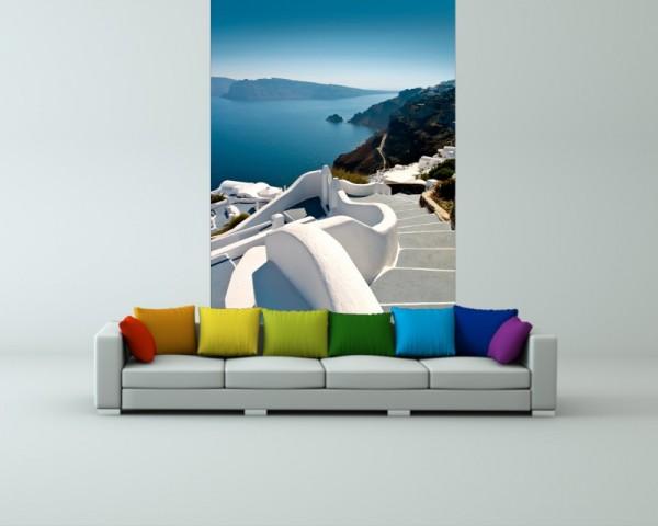 Fototapete Santorini Treppe