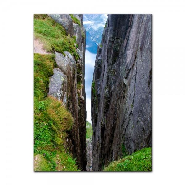 Leinwandbild - Sicht auf Lysefjord-Kjerag - Norwegen