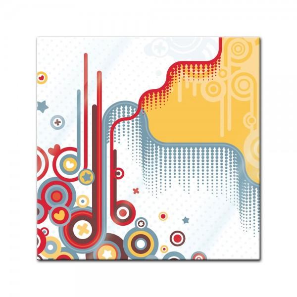 Glasbild - Abstrakt Retro Background II