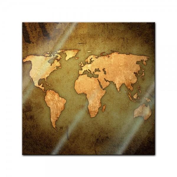 Glasbild - Weltkarte