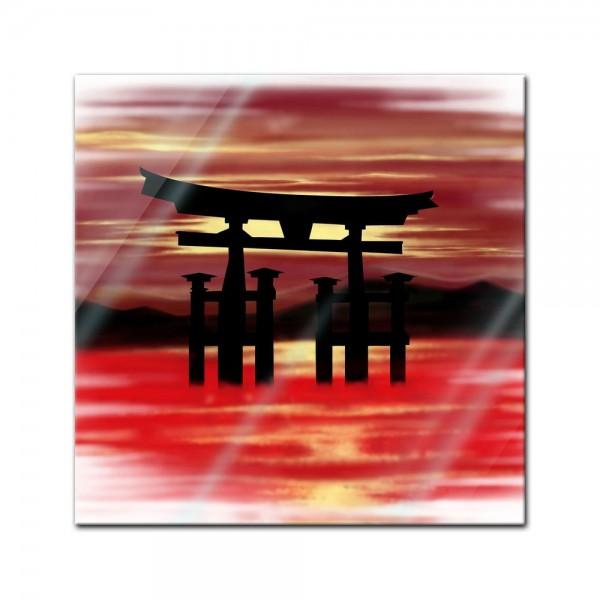 Glasbild - Zen Landschaft