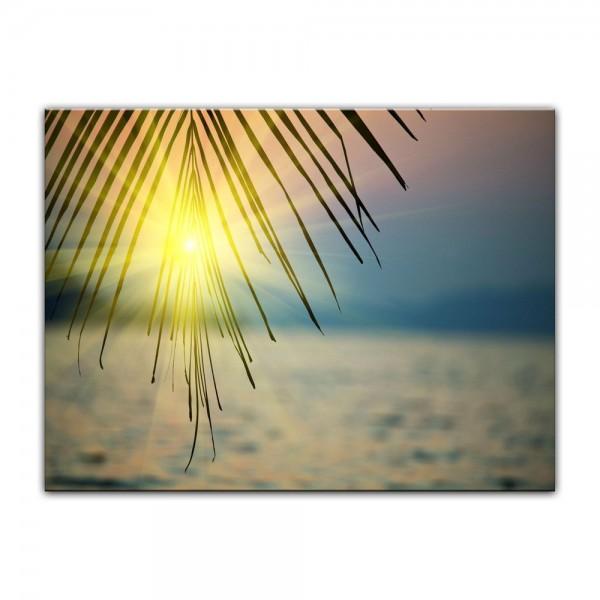 Leinwandbild - Tropischer Sonnenuntergang III