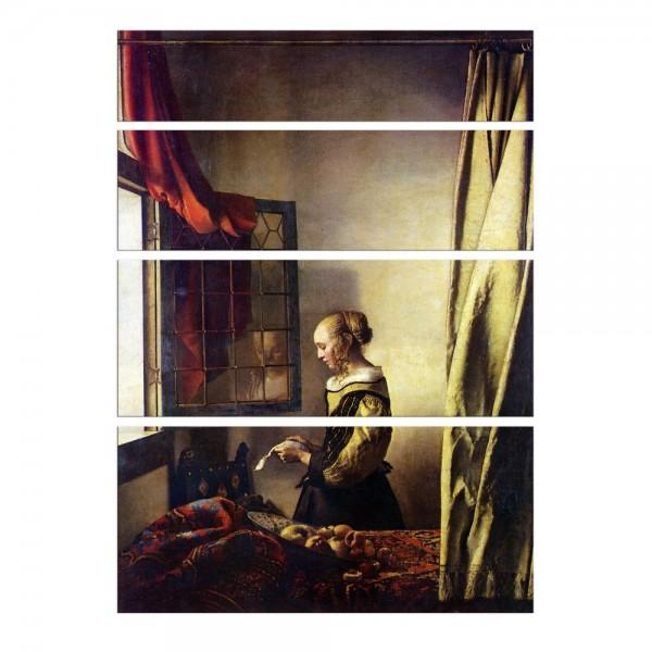 Leinwandbild - Jan Vermeer - Briefleserin am offenen Fenster