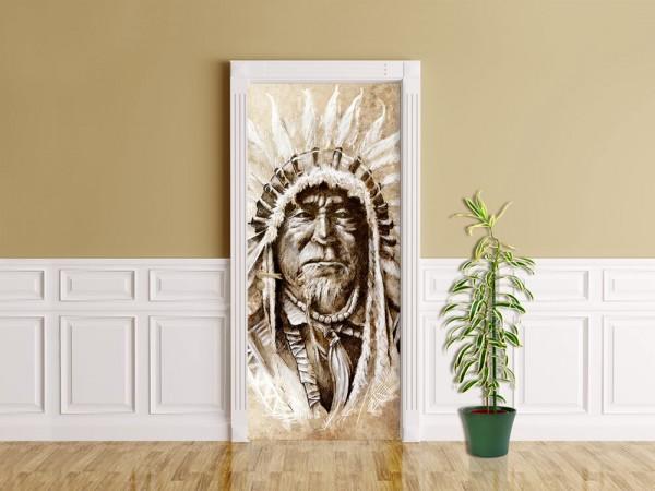 Türaufkleber - Indianer IV, Tattoo Art
