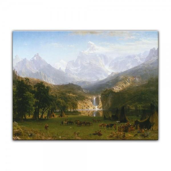 Leinwandbild - Albert Bierstadt - The Rocky Mountains, Lander's Peak