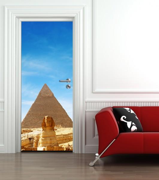 Türaufkleber - Pyramiden Sphinx