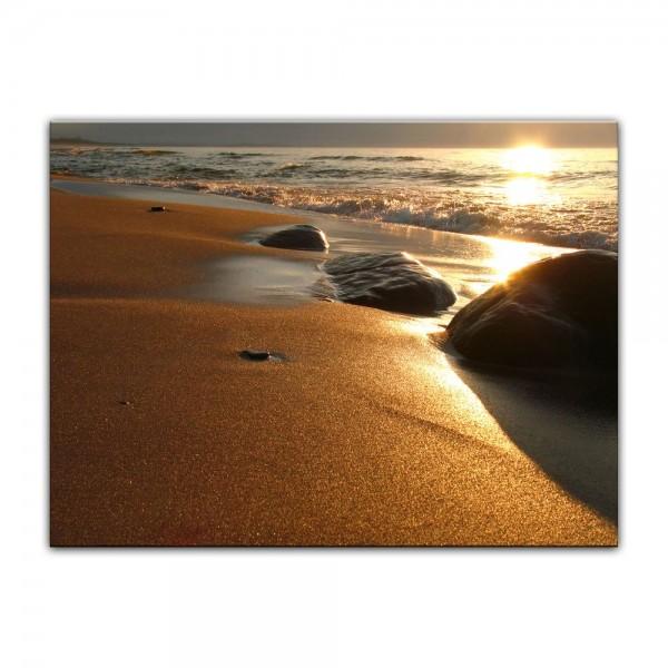 Leinwandbild - Goldener Strand