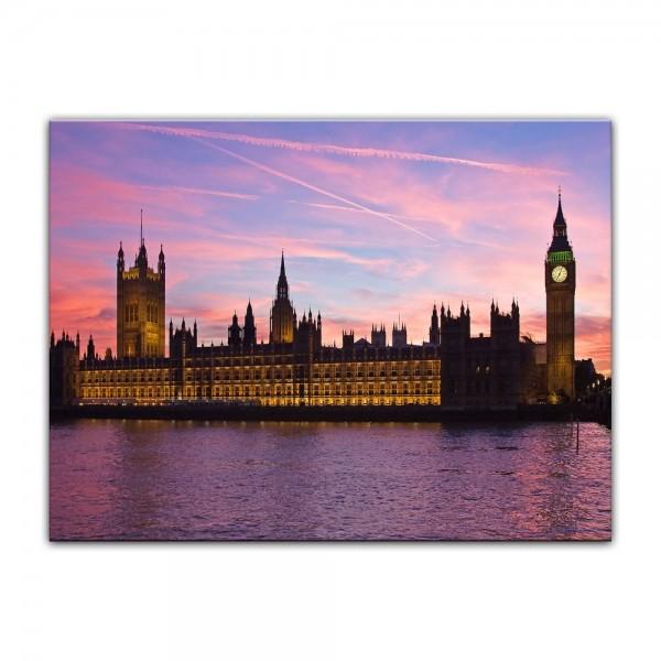 Leinwandbild - Big Ben an der Themse - London UK