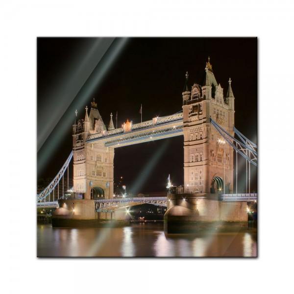 Glasbild - Tower Bridge bei Nacht