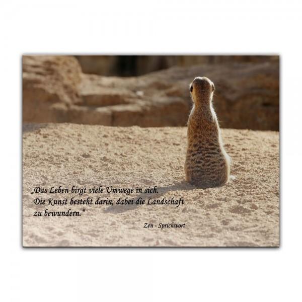 Leinwandbild mit Zitat - Das Leben (Zen-Sprichwort)