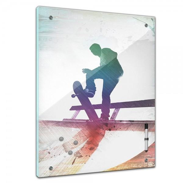 Memoboard - Männermotive - Grungy Skatboarder