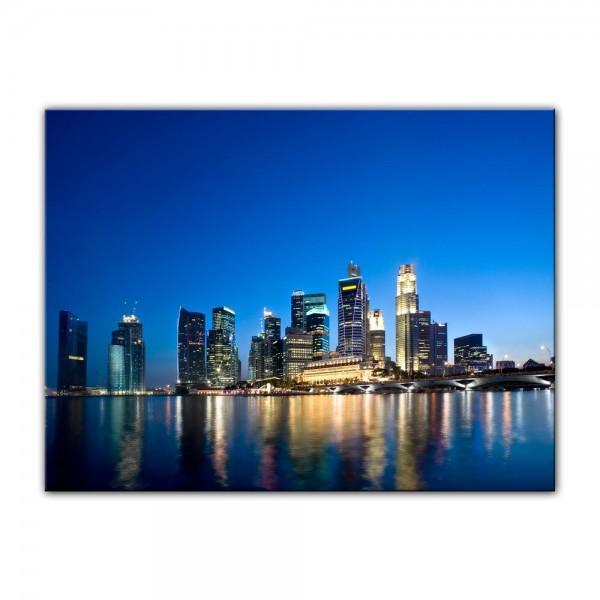 Leinwandbild - Singapur - Skyline