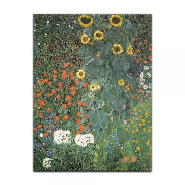 Leinwandbild - Gustav Klimt - Bauerngarten mit Sonnenblumen