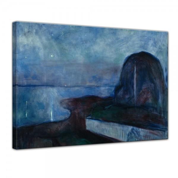 SALE Leinwandbild - Edvard Munch Starry Night Sternennacht - 80x60 cm