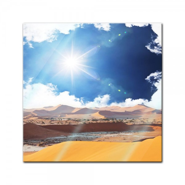 Glasbild - Wüstenschein