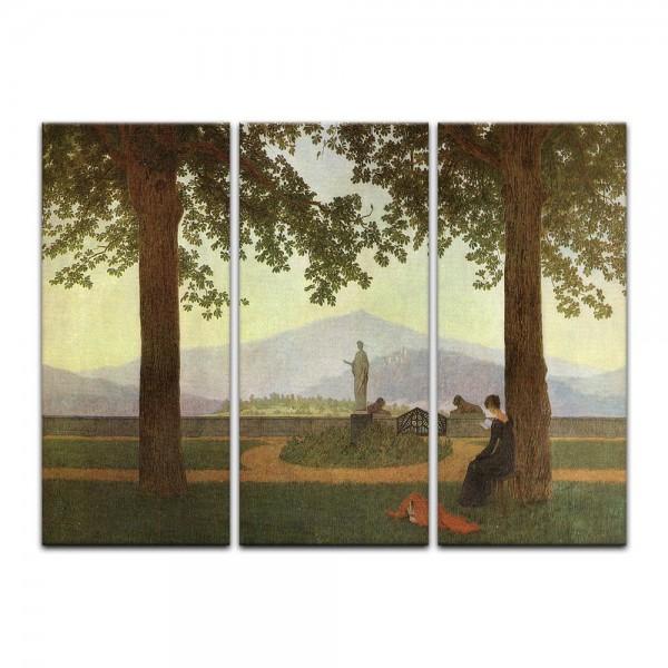 Leinwandbild - Caspar David Friedrich - Gartenterasse