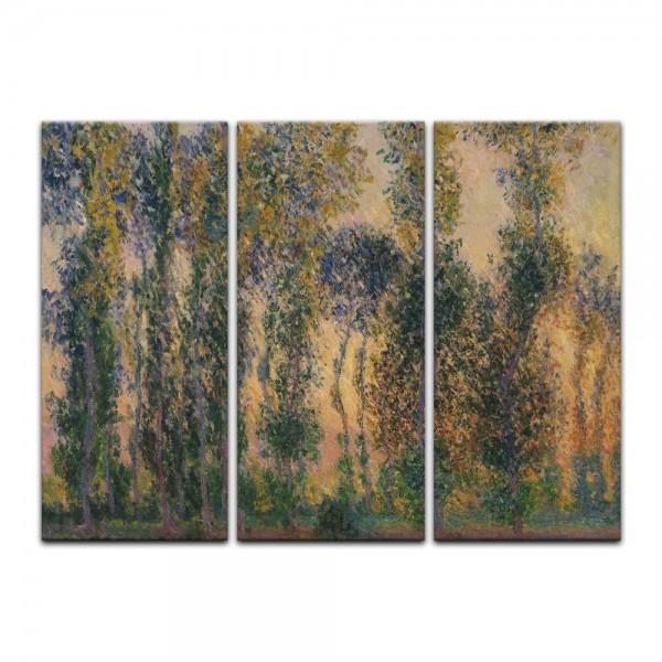 Leinwandbild - Claude Monet - Pappeln bei Giverny, Sonnenaufgang