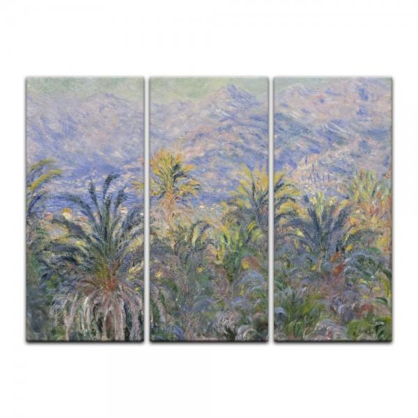 Leinwandbild - Claude Monet - Palmen in Bordighera
