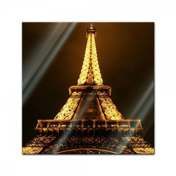 Glasbild - Eiffelturm by Night - Paris Frankreich
