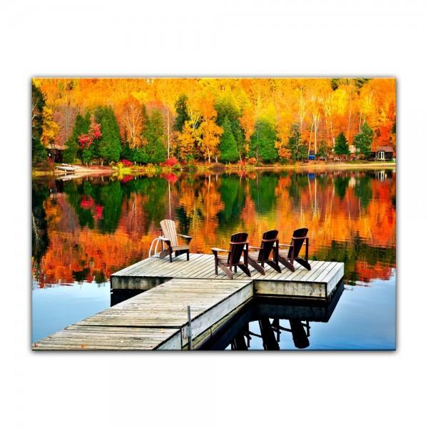 Leinwandbild - Herbstlandschaft