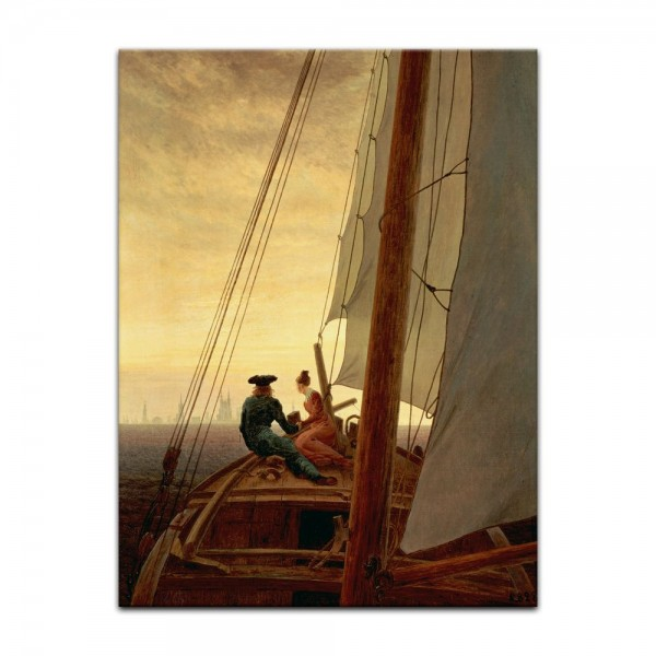 Leinwandbild - Caspar David Friedrich - Auf dem Segler