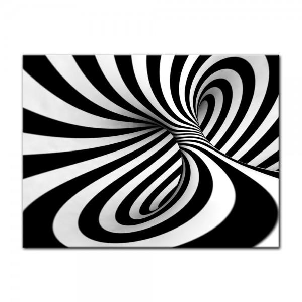 Leinwandbild - Abstrakte 3D Spirale