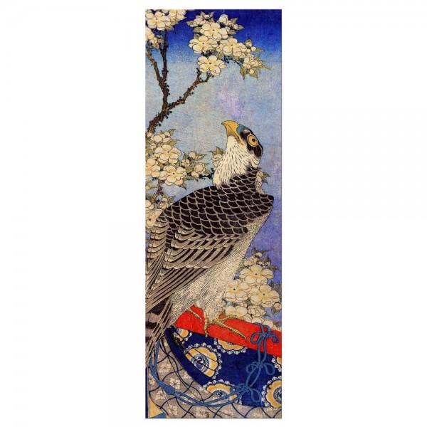 Leinwandbild - Katsushika Hokusai - Falke und Kirschblüten