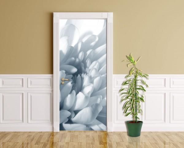 Türaufkleber - Weiße Chrysantheme