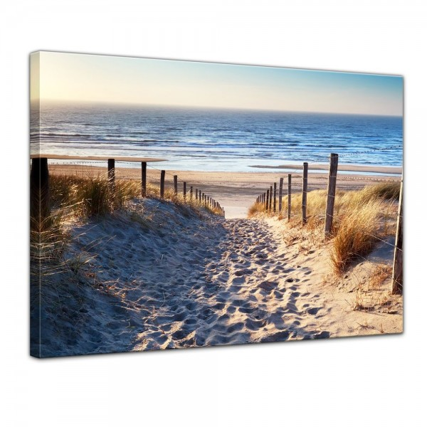 SALE Leinwandbild - Schöner Weg zum Strand III - 40x30 cm