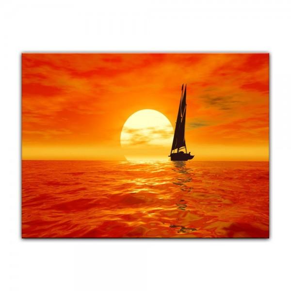 Leinwandbild - Segelboot