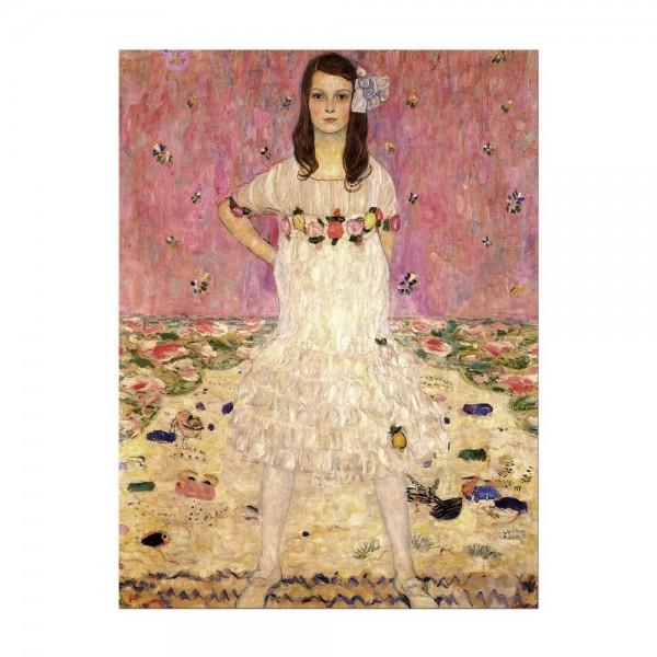 Leinwandbild - Gustav Klimt - Portrait der Eugenia Primavesi