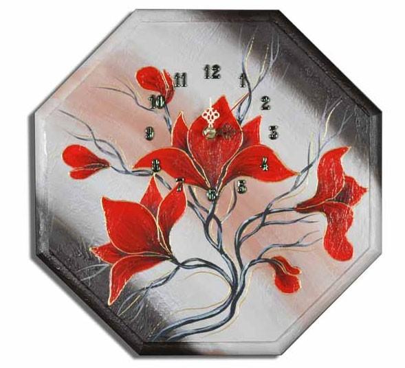 Wanduhr - Blumen M2