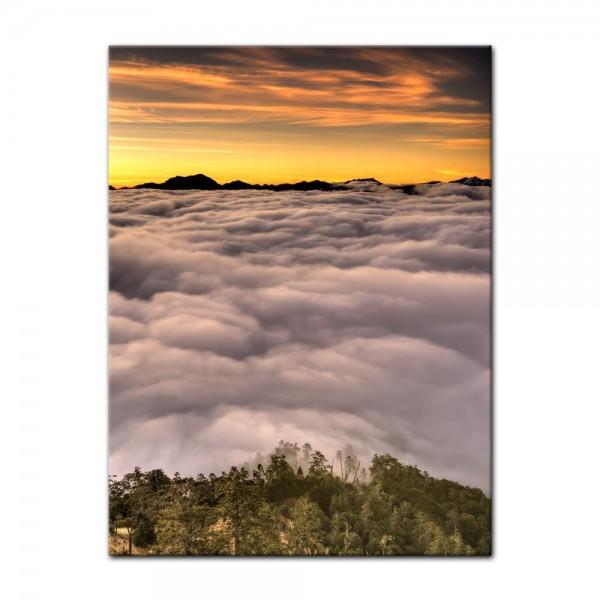 Leinwandbild - Dramatischer Sonnenuntergang