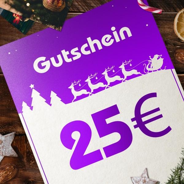 Express-Gutschein für Weihnachten über 25 EUR zum Selbstausdrucken