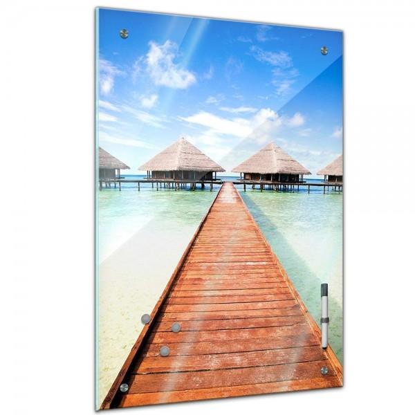 Memoboard - Landschaft - Steg Malediven
