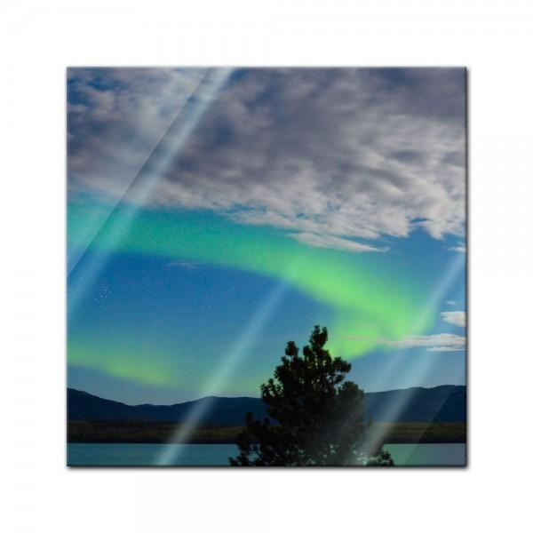 Glasbild - Nordlichter in Yukon - Kanada
