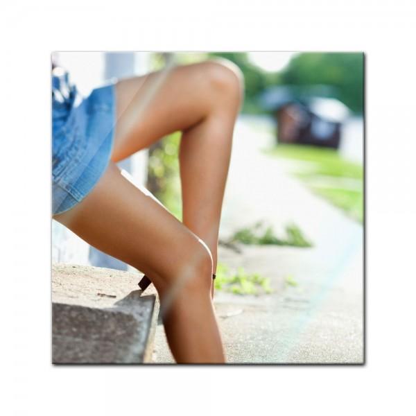 Glasbild - sexy Frauenbeine