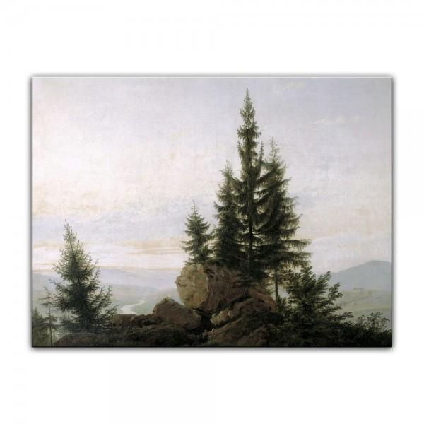 Leinwandbild - Caspar David Friedrich - Ausblick ins Elbtal