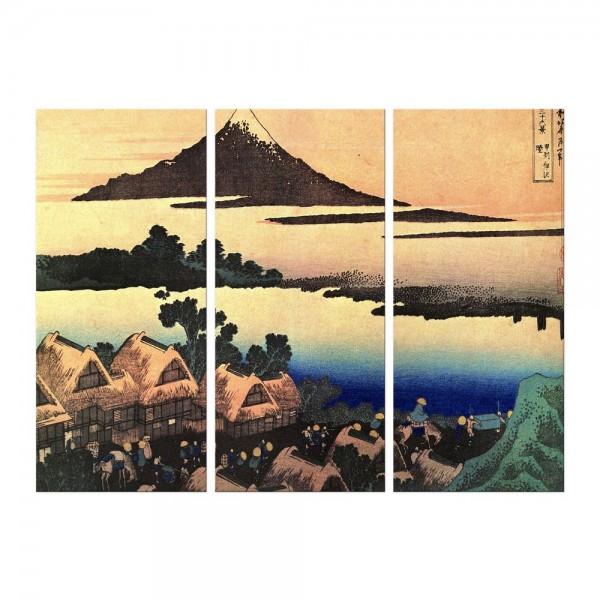 Leinwandbild - Katsushika Hokusai - Morgendämmerung bei Isawa in der Provinz Kai -