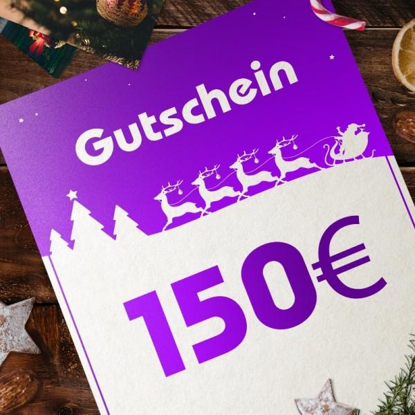 Express-Gutschein für Weihnachten über 150 EUR zum Selbstausdrucken