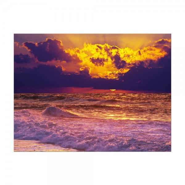 Leinwandbild - Strand Sonnenuntergang III