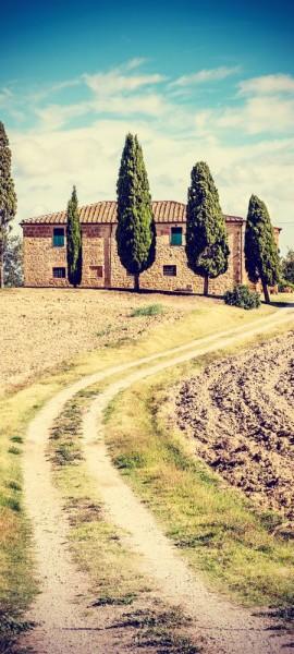 Türtapete selbstklebend Toskana - Italien Vintage 90 x 200 cm Florenz Renaissance Natur Landschaft