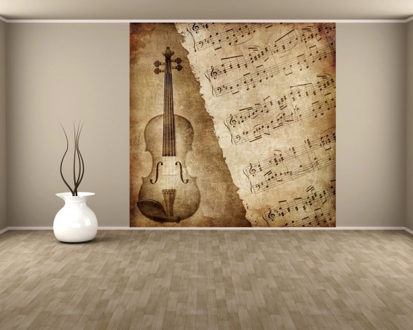 Fototapete Music - Old Paper Grunge