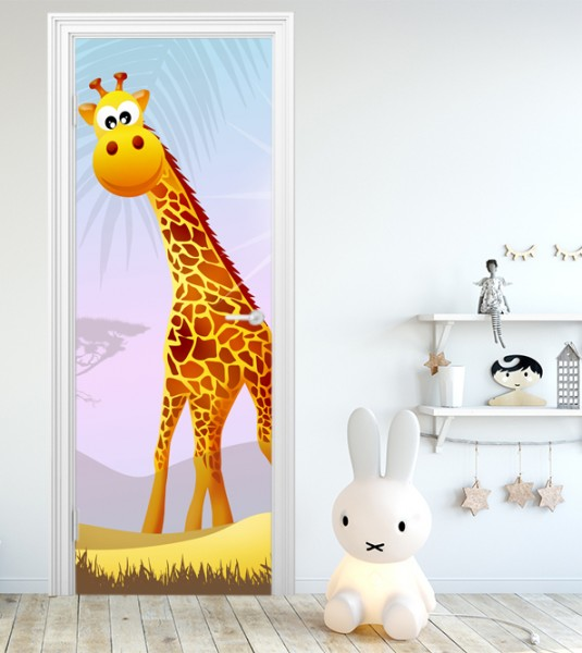 Türaufkleber - Kinderbild Safari