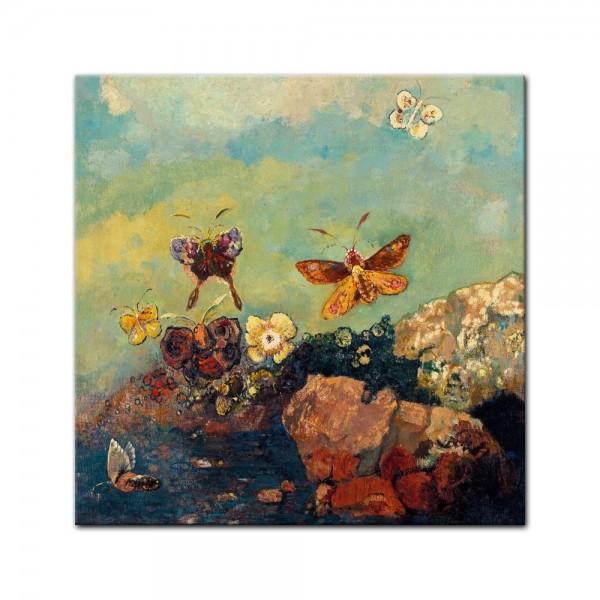 Leinwandbild - Odilon Redon - Schmetterlinge