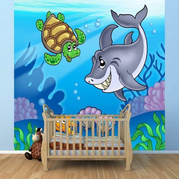 Fototapete Kindertapete Unterwasser Tiere
